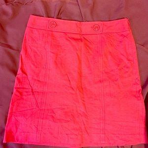 Ann Taylor A-line hot pink skirt